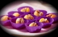 Abrikozen gevuld met notenroomkaas