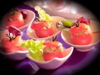Cocktailtomaten gevuld met sardinetapenade
