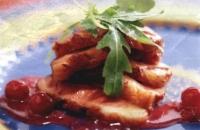 Eendenborst met Cranberry-portsaus