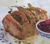 Gemarineerde rollade met cranberrysaus