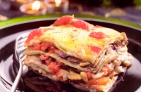 Lasagne met aubergines en mozzarella