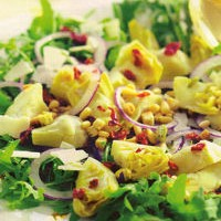 Toscaanse rucolasalade met artisjokharten